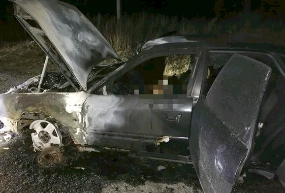 В Шиханах Саратовской области смерть водителя сгоревшего автомобиля не признали криминальной